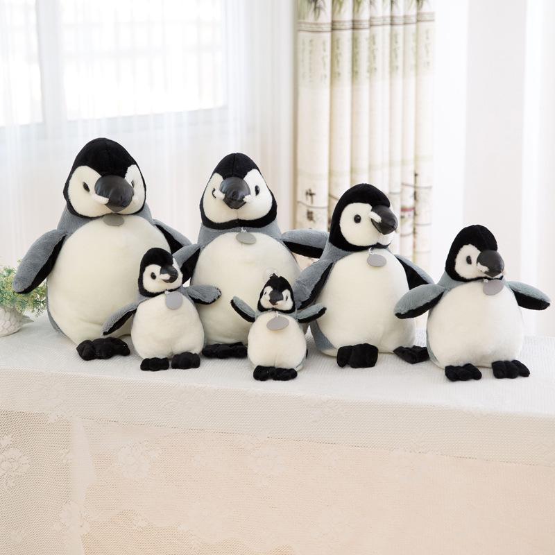 Grey Penguins Soft Stuffed Plush Animal Doll for Kids Gift