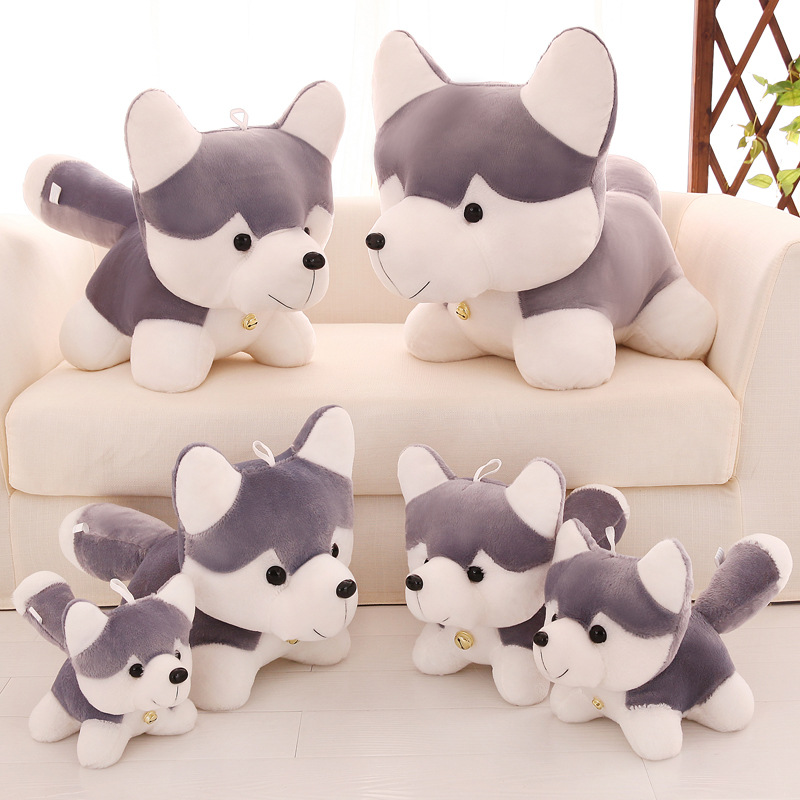 Huskie Dog Soft Stuffed Plush Animal Doll for Kids Gift