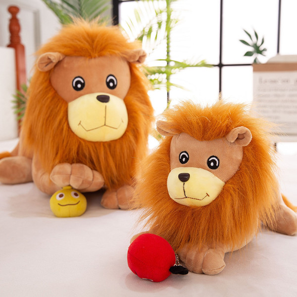 Brown Lion Soft Stuffed Plush Animal Doll for Kids Gift