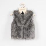 Toddler Kids Girl Plush Faux Fur Thick Warm Vest Coats Outerwears