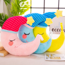 Comfort Pillow Moon Soft Stuffed Plush Doll for Kids Gift
