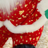 Santa Claus Gold Christmas Trees Soft Stuffed Plush Doll for Kids Gift