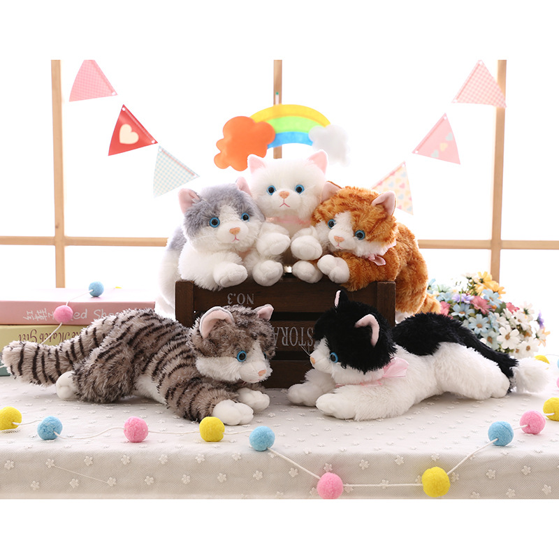 Cat Soft Stuffed Plush Animal Doll for Kids Gift
