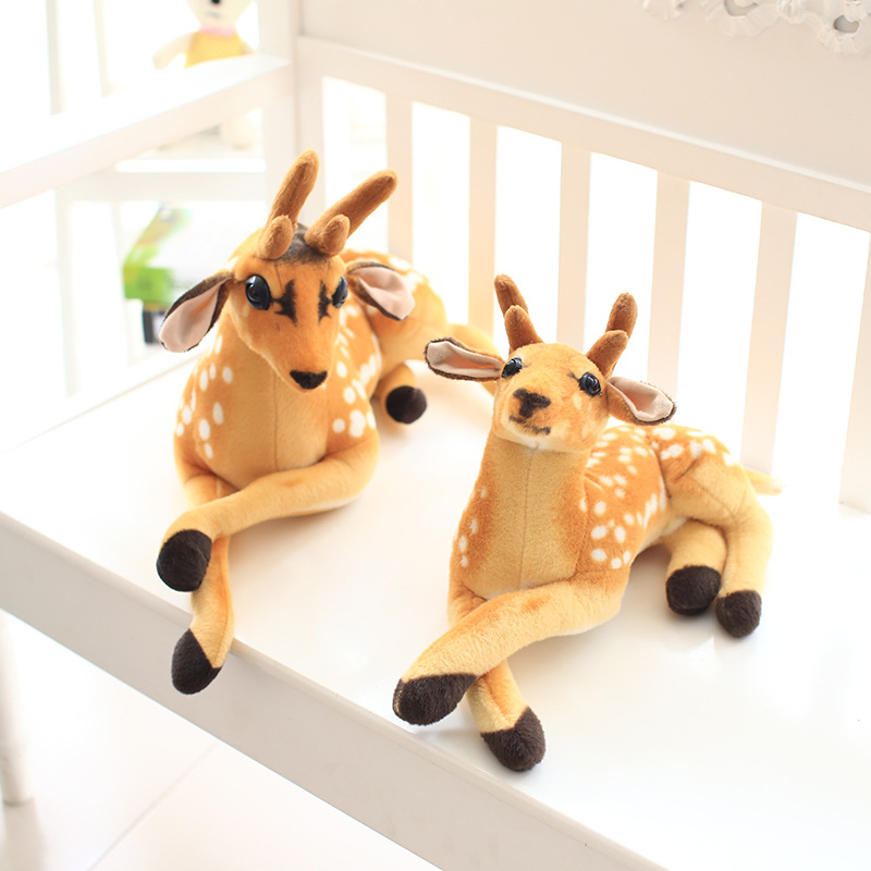 Brown Deer Soft Stuffed Plush Animal Doll for Kids Gift