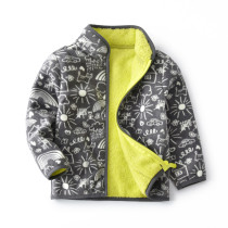 Toddler Kids Boy Polar Fleece Prints Sun Clouds Cars Full Zipper Jacket Outerwear Coats