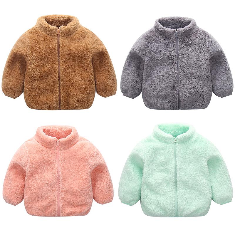 Toddler Kids Boy Girl Polar Fleece Full Zipper Jacket Outerwear Coats