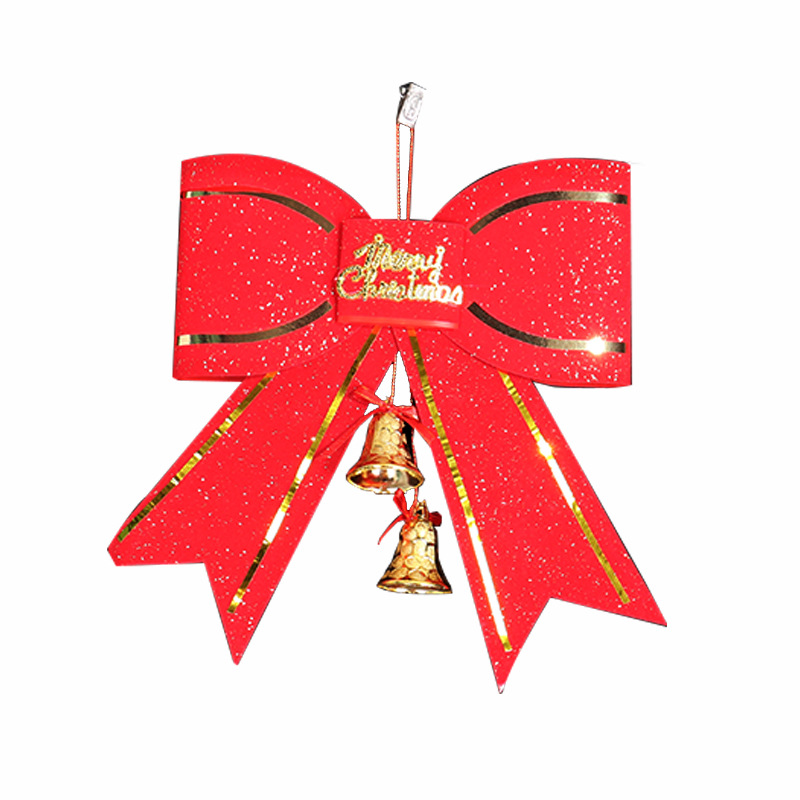 Classic Christmas Jingle Bell Bowknot Christmas Tree Hanging Decoration Ornament Xmas Gift