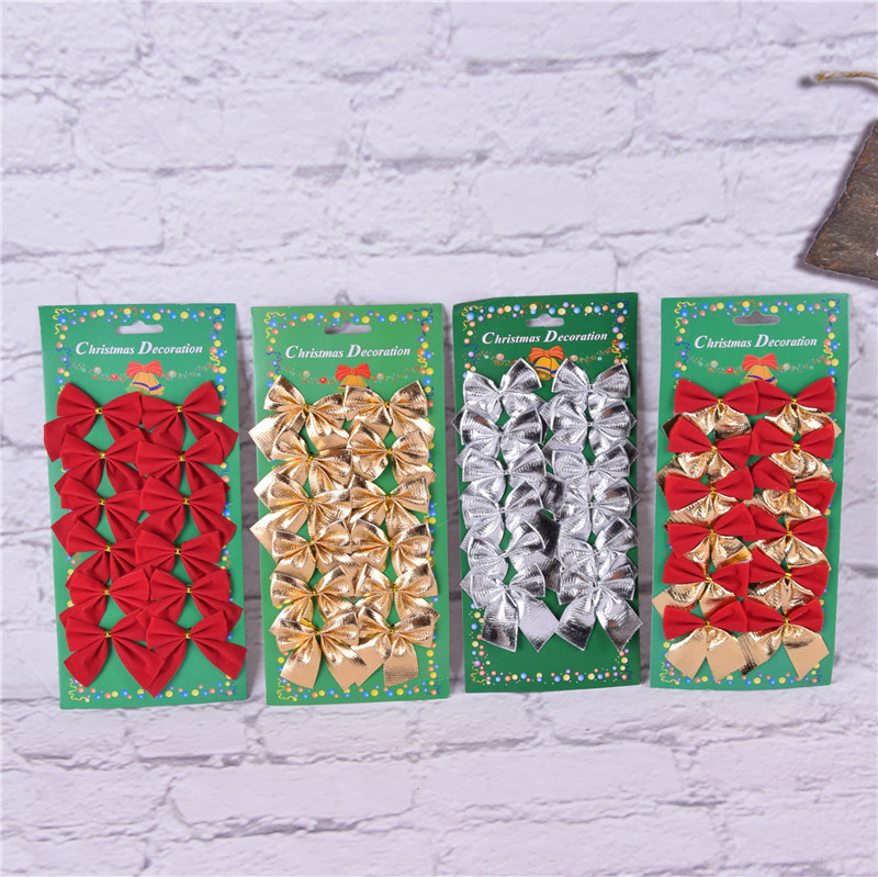 2in Classic Christmas Mini Bowknot Christmas Tree Hanging Decoration