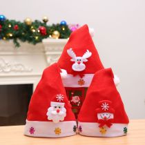 Christmas Hats Red Deer Snow Santa Hats With White Cuffs