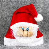 Christmas Hats Santa Claus Red Velvet Hats With White Cuffs