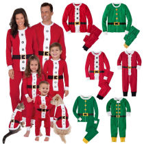 Christmas Family Matching Pajamas Christmas Santa Claus Red Sleepwear Sets