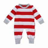 Christmas Family Matching Pajamas Sleepwear Sets Christmas Red Stripes Top and Pants