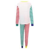 Christmas Family Matching Pajamas Christmas Hohoho Santa Claus Stripes Top and Pant