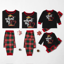 Christmas Family Matching Pajamas Christmas EFL Slogan Top and Red Plaids Pant