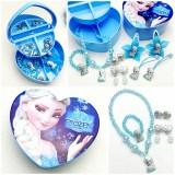 Kid Girl Blue Sequins Silver Snowflake Frozen Elsa Tutu Princess Dresses