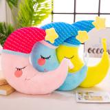 Comfort Pillow Moon Soft Stuffed Plush Doll for Kids Gift