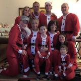 Christmas Family Matching Pajamas Christmas Santa Claus Red Sleepwear Sets