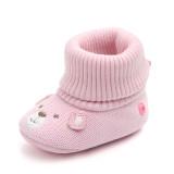 Baby Toddlers Boy Girls Knit Wool Bear Animal Non-Skid Indoor Slipper Winter Warm Shoes Socks
