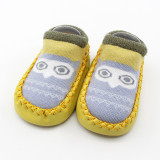 Baby Toddlers Girls Boy Cute Owl Non-Skid Indoor Winter Warm Short Shoes Socks