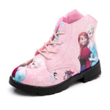 Kid Girl Print Frozen Princess Martin Ankle Boots