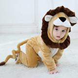 Baby Brown Leo Lion Onesie Kigurumi Pajamas Animal Costumes for Unisex Babys