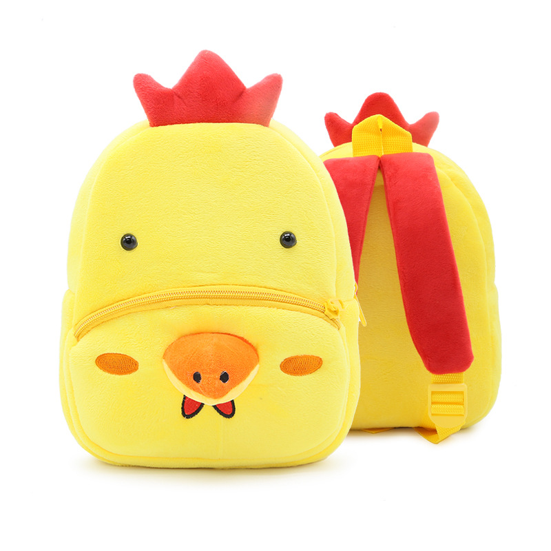 Kindergarten School Backpack Yellow Chick Animal School Bag For Toddlers Kids