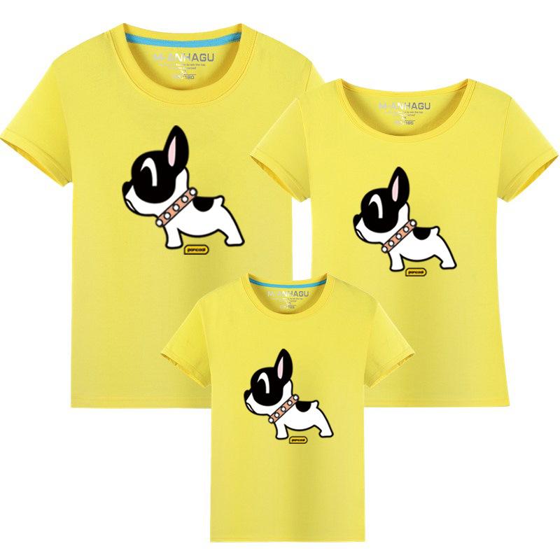 Matching Family Prints Cute Puppy Famliy T-shirts Top