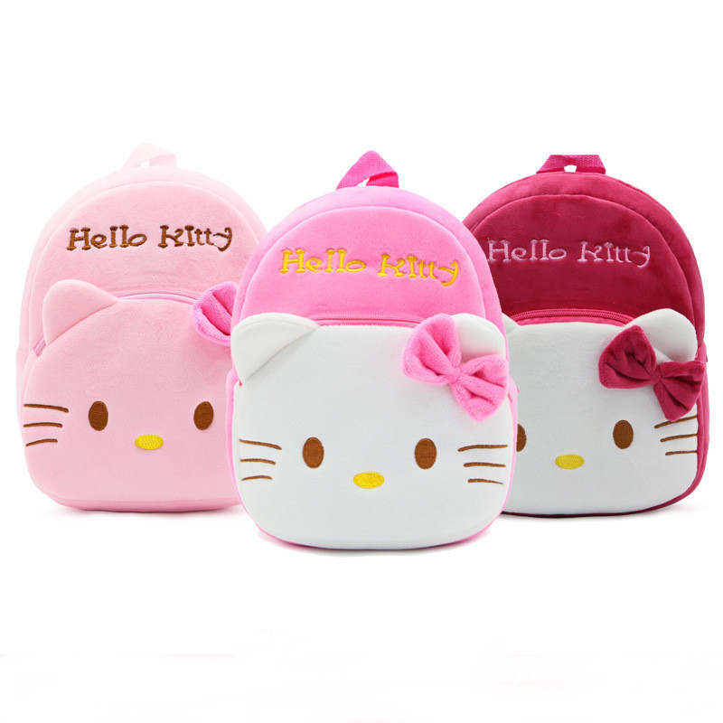 Kindergarten School Backpack Pink Hello Kitty School Bag For Toddlers Kids