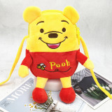 Yellow Winnie the Pooh Bear Fashion Crossbody Shoulder Bags for Toddlers Kids