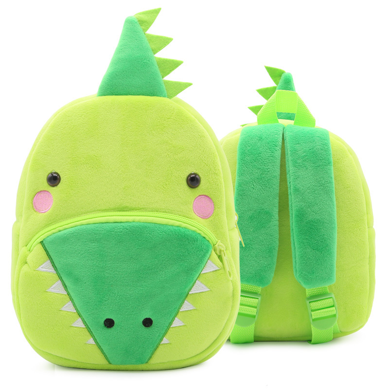 Kindergarten School Backpack Green Crocodile Animal School Bag For Toddlers Kids