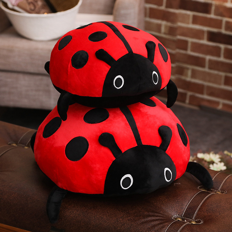 Ladybug Soft Stuffed Plush Animal Doll for Kids Gift