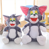 Tom and Jerry (Cat and Mouse) Sit Soft Stuffed Plush Animal Doll for Kids Gift
