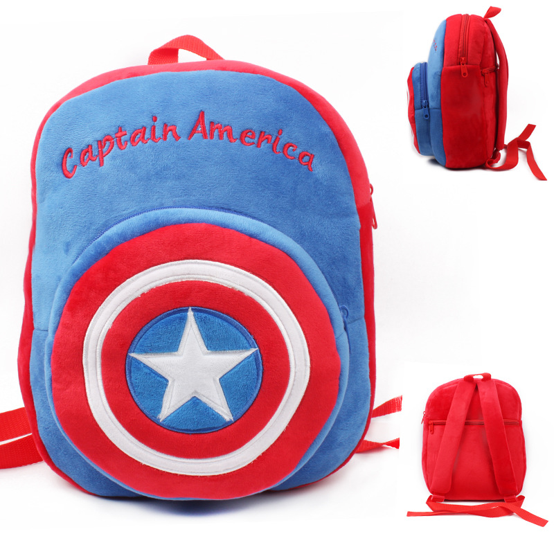 Kindergarten School Backpack Captain America School Bag For Toddlers Kids