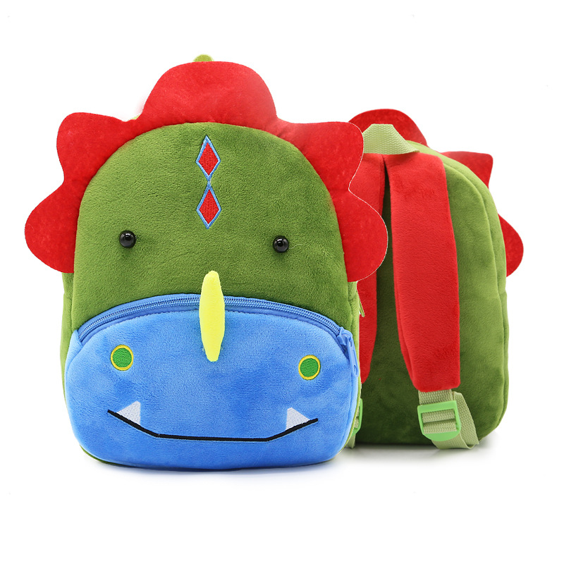 Kindergarten School Backpack Green Dinosuar Animal School Bag For Toddlers Kids