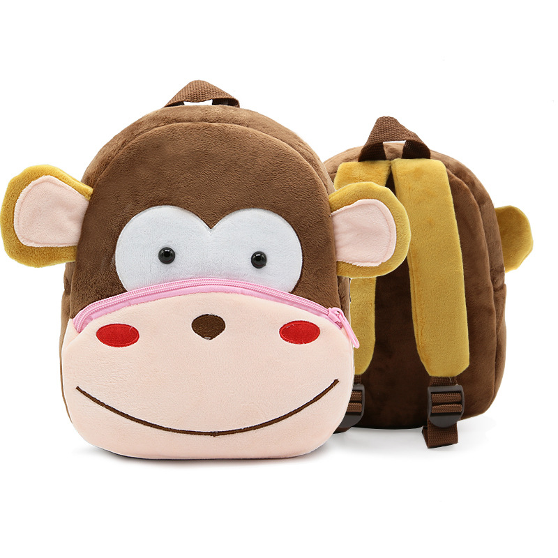 Kindergarten School Backpack Monkey Animal School Bag For Toddlers Kids