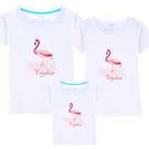 Matching Family Prints Slogan Flamingo Famliy T-shirts Top
