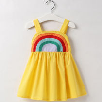 Toddler Girls Rainbow Summer Slip A-line Dress
