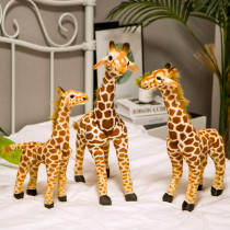 Brown Giraffe Soft Stuffed Plush Animal Doll for Kids Gift