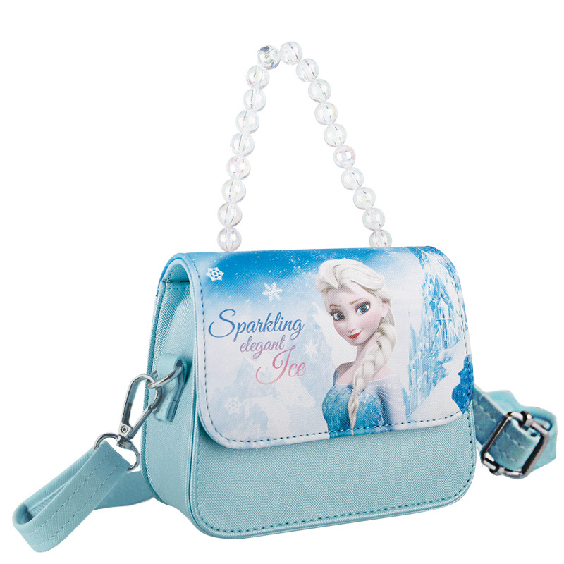 Frozen Fashion Crossbody Shoulder Bead Handbag for Toddlers Kids