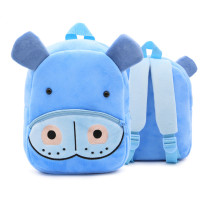 Kindergarten School Backpack Blue Hippo Animal School Bag For Toddlers Kids