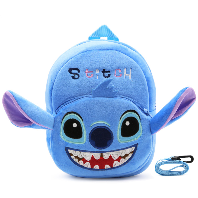 Kindergarten School Backpack Blue Stitch School Bag For Toddlers Kids