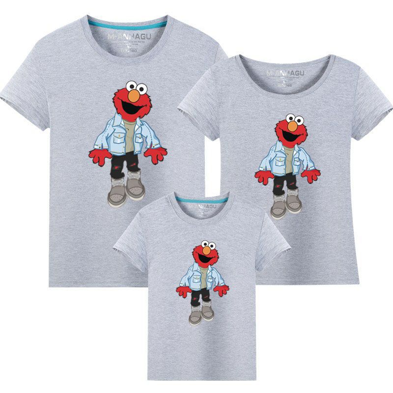 Matching Family Prints Sesame Street Famliy T-shirts Top
