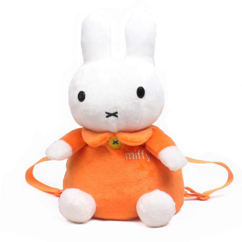 Kindergarten School Backpack Orange Miffy Rabbit School Bag For Toddlers Kids