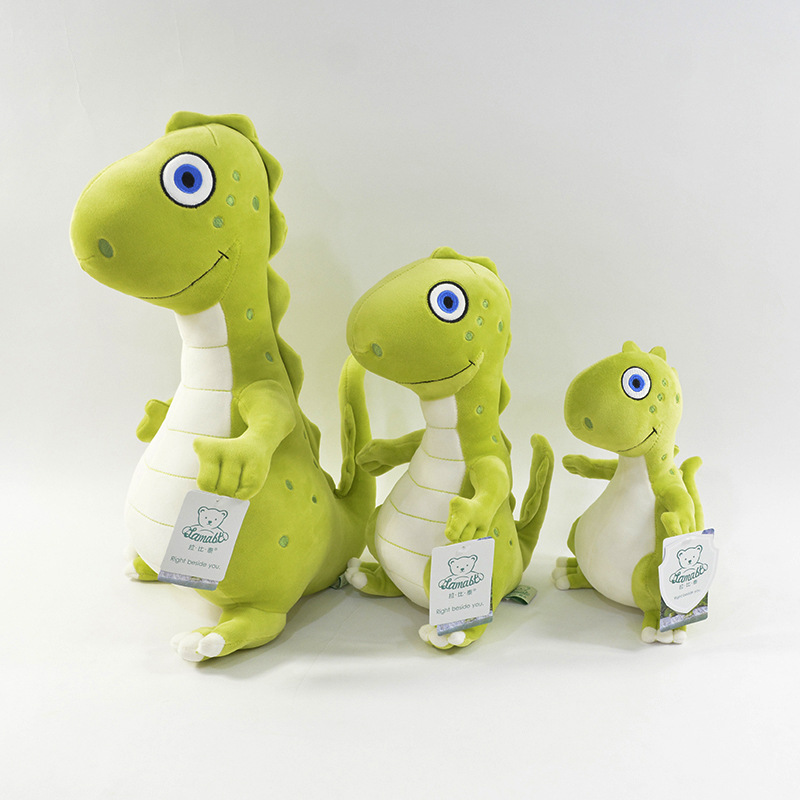 Green Cute Dinosaur Soft Stuffed Plush Animal Doll for Kids Gift