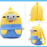 Kindergarten School Backpack Yellow Minions School Bag For Toddlers Kids