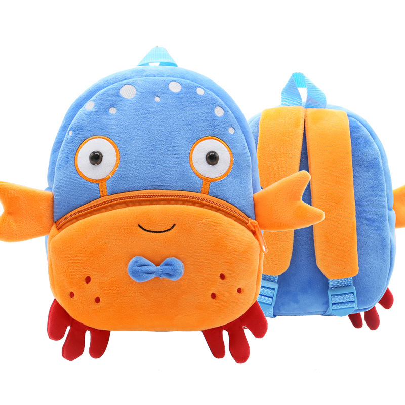 Kindergarten School Backpack Crab Animal School Bag For Toddlers Kids