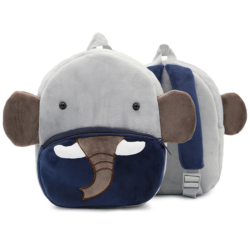 Kindergarten School Backpack Elephant Animal School Bag For Toddlers Kids