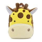 Kindergarten School Backpack Brown Giraffe Animal School Bag For Toddlers Kids