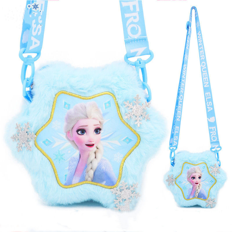 Plush Stuffed Frozen Fashion Crossbody Shoulder Bags for Toddlers Kids