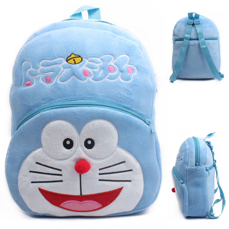Kindergarten School Backpack Blue Doraemon School Bag For Toddlers Kids